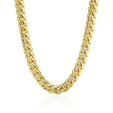 """5mm Wide Italian 14k Solid Yellow Gold Miami Cuban Chain Necklace 20-30"""""""