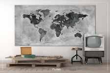 World Map Rustic Watercolor Push Pin Large Canvas Antiques Map Travel Map Art