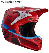 FOX CASCO MOTOCROSS V3 SECA ROSSO MATE ROJO MATT 2017 ROJO BLANCO CROSS