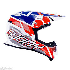 CASCO FIBRA ENDURO CROSS MOTOCROSS SUOMY MR JUMP SPECIAL ROJO BLANCO AZUL