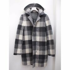 BNWT Maison Martin Margiela Reversible Check Horn Toggle Coat Size 48 RRP £1145