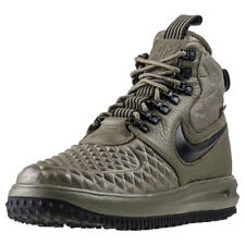 Mens NIKE Lunar Force 1 Duckboot 17 Leather & Synthetic Olive Black Boots