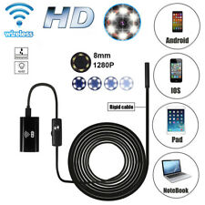 WIFI Waterproof Endoscope Borescope Inspection 1280P HD camera fr Andriod Iphone