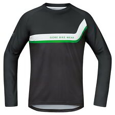 Maillot Gore Bike Wear Power Trail Manga Larga Negro-Marron
