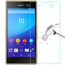 For sony xperia m5 High quality 2mm tempered/temper glass**free wipes**