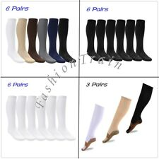 Unisex Mens Women Compression Socks Stockings Graduated Support Knee-High Sleeve