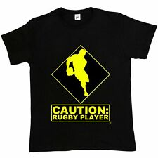 Caution: Rugby Player Rugby World Cup Mens T-Shirt