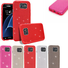 Sparkling Bling TPU Slim Silicone gel Protective Case Cover Samsung Galaxy Model