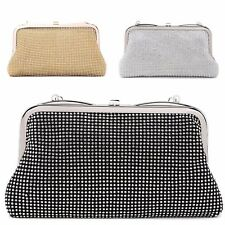 Ladies Diamante Cocktail Party Clutch Bag Bridal Purse Evening Handbag MA34780