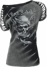 Rock Rebel by EMP Original Sinners Batik Cut Out Maglia donna grigio