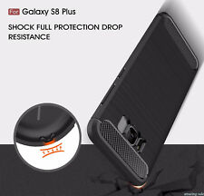 Shockproof CARBON FIBER RUGGED TPU CASE COVER FOR SAMSUNG GALAXY S7 Edge S8 + HR