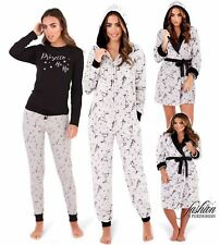 Ladies Fleece Prosecco Short or Long Dressing Gown Robe Or All in One Or Pyjamas