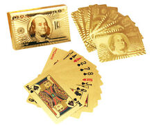 24K Gold Silver Plated Shiny Playing Cards US Dollar EURO Game Poker Deck Gift