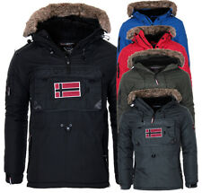 Geographical Norway uomo caldo invernale Giacca Schlupfjacke Parka a vento NUOVO