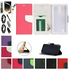 For LG K10 2017 K20 +PLUS K20 V Case Wallet Stand Pouch Purse Screen Flip Cover+
