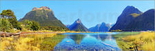 Cuadro de madera New Zealand Milford Sound Panorama - Michael Rucker