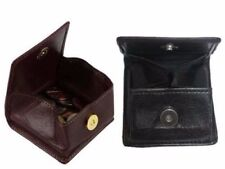 Leather coin pouch wallet Men's Ladies Small Money Purse