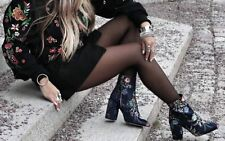 ZARA EMBROIDERED ANKLE BOOTS SHOES STIEFEL STIEFELETTE STICKEREI SIZE 36 37 38