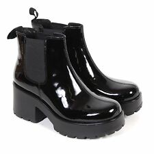 Vagabond Women's Dioon Patent Leather Pull On Boot Black