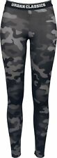 Urban Classics Ladies Camo Logo Leggings Leggings mimetico scuro
