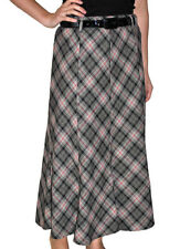 Saloos Taupe Tartan 8 Panel Skirt