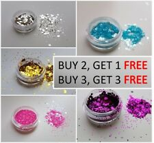 Cosmetic Glitter Pot. Chunky/Fine Dust mixed Pot for Face, Body, Hair & Nails.
