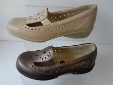 da donna di pelle Espresso / BEIGE SLIP ON, in pelle EASY B Scarpe Sunray