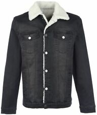 Forplay Jeans Jacket with Berber Fleece Lining Giacca nero