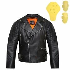 New Real Leather Motorbike Touring & Urban Motorcycle CE Armoured Biker Jacket