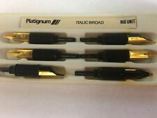 PLATIGNUM /REGAL /SILVER AND GOLD FOUNTAIN PEN NIB UNIT