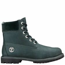 Timberland WOMEN'S VELVET ACCENT PREMIUM WATERPROOF BOOTS Dark Green rrp £170