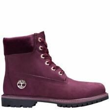 Timberland WOMEN'S VELVET ACCENT PREMIUM WATERPROOF BOOTS Wine Port rrp £170
