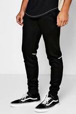 Boohoo Skinny Fit Jogger With Pipe Panel Piping para Hombre
