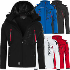 M478 Geographical Norway Herren Softshell Outdoor Funktions Jacke mit Kapuze