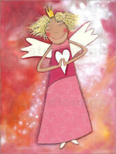 Cuadro sobre lienzo Blonder guardian angel for girls - Atelier BuntePunkt