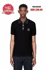 FRED PERRY raf simons knitted shirt Men's contrast neck  SALE & CHEAP