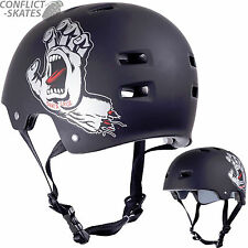 SANTA CRUZ / BULLET Skateboard Helmet Screaming Hand BLACK Roller Derby s/m l/xl