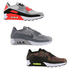 ORIGINAL NIKE AIR MAX 90 ULTRA 2.0 FLYKNIT WHIT BLACK GREY BRIGHT TRAINERS