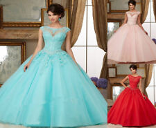 New Beaded Quinceanera Dress Ball Gowns Formal Prom Dress Party Wedding Dresses