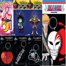 New Anime Keyrings Attack On Titan Sailor Moon Hatsune Miku Rubber Official UK
