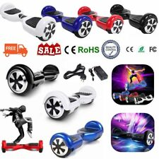 """NUOVO HOVERBOARD LUCI LED SPEAKER E BLUETOOTH SCOOTER OVERBOARD 6,5""""- 8""""-10"""" #G"""