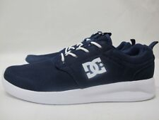 Mens DC Midway Skate Navy White Shoes Casual Lace Up Textile Trainers