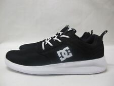 Mens DC Midway Black Skate Shoes Casual Lace Up Textile Trainers