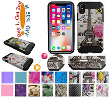 "for 5.8"" iPhone 10 X iphoneX Case Shock Proof Edge Hybrid Painting 3D Back Cover"