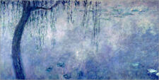 Póster Waterlilies: Two Weeping Willows - Claude Monet