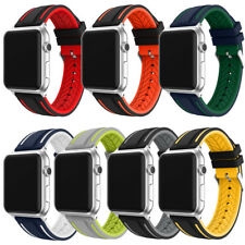 Silicone Replacement Strap For Apple Watch Sport Band Bracelet 42mm 38mm 1 2 3