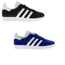Brand New Original Mens Adidas Gazelle White Black Blue Trainers Shoes Sneakers
