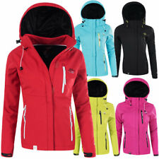 N613 Geographical Norway Damen Softshell Outdoor Funktions Jacke mit Kapuze