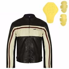 New Mens Real Leather Motorcycle CE Armoured Motorbike Real Biker Jacket