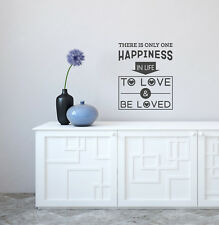 """Scritte adesive sticker frasi amore felicità """"To Love & Be Loved"""""""
